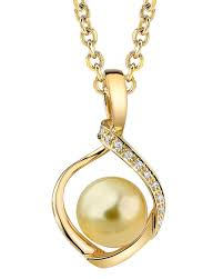 golden south sea pearl diamond alexis pendant