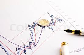 Detail Of Euro Coin On Financial Spread Stock Image