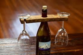 wine glasses bottle holder