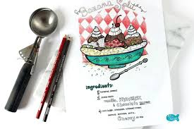 Small Picture Banana Split Recipe Adult Coloring Page