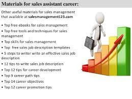 Sales Assistant Job Description