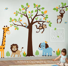 baby bedroom style walls jungle theme room nursery furniture sets wall arts decor woods love birds