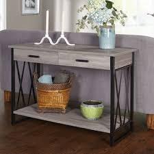 simple living seneca xx black grey reclaimed look sofa table black home office desk