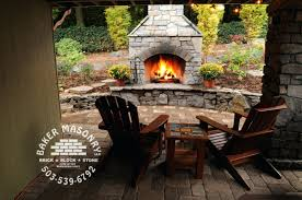stacked stone outdoor fireplace designs grill plans