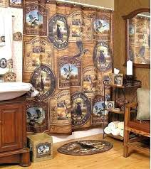 cabin shower curtain cabin shower curtain bear bathroom set decor sets black rug moose piece bath cabin shower curtain
