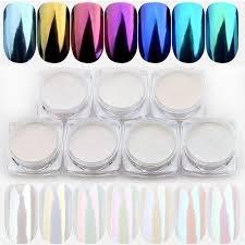 hot sale 1g gold sliver nail glitter powder shinning mirror nails dust art diy chrome pigment glitters