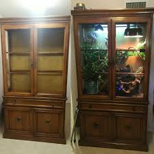 terrarium furniture. diy chameleon terrarium from an old china cabinet furniture u