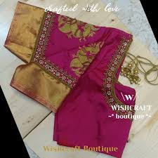 Saree Blouse Hand Work Designs Wishcraftbyvishakha
