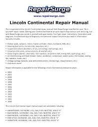 lincoln continental repair manual 1990 2002 repairsurge com lincoln continental repair manual the convenient online lincoln continental repair manual