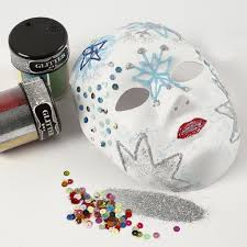 Glitter Mask Designs A Face Mask With Glitter On Designs Made With Transparent