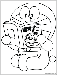 doraemon coloring pages is reading the book coloring page doraemon ita coloring pages