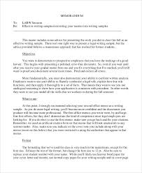 memos samples sample memo 9 examples in word pdf