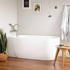 59 averill acrylic freestanding corner tub