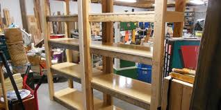 make your own heavy duty shelving unit a vertical clutter buster