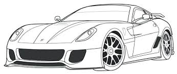 Ferrari Colouring Pages Printable Car Coloring Pages Coloring Page