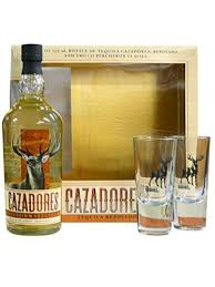 cazadores tequila reposado gift set with 2 shot gles 750ml