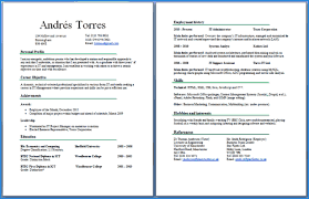 Can A Resume Be 2 Pages Flexible Photos Cv Two Example Page Header