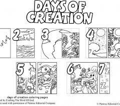 Days Of Creation Coloring Pages 15 Awesome Days Creation Coloring