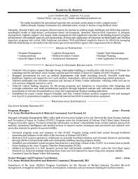 Army Resume Examples Examples Of Resumes