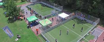 grass soccer field with goal. Drone09 Grass Soccer Field With Goal