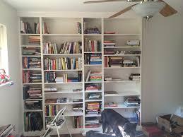 diy built in ikea billy bookshelf 9