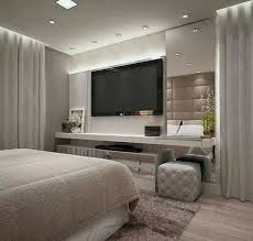 Use a wall unit with matching hutch or bookcases. Tv Bedroom Ideas Design Corral
