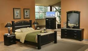 black furniture in neo classical bedroom