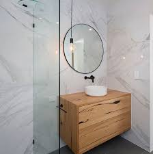 wall hung bathroom vanity reclaimed australian hardwood timber natural oil wax finish