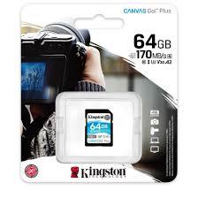 Thẻ nhớ Kingston Canvas Go Plus SD 64GB cho thiết bị di động Android,  camera, flycam và sản xuất video 4K SDG3/64G