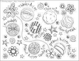 Daisy Girl Scout Coloring Pages Girl Scout Cookies Coloring Pages