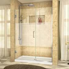 bathroom frameless glass shower doors. display product reviews for unidoor plus 45-in to 45.5-in w frameless chrome bathroom glass shower doors
