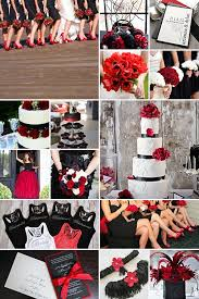 black and red weddings red wedding