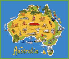 download australia travel map  major tourist attractions maps