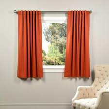 blackout curtains pair. Unique Curtains Exclusive Fabrics U0026 Furnishings SemiOpaque Blaze Orange Blackout Curtain   50 In W On Curtains Pair L
