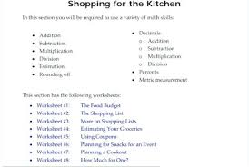 Teaching Budgeting Worksheets Independent Budgeting Worksheets For Adults Teaching Printable Free