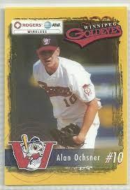 Alan Ochsner 2001 Winnipeg Goldeyes Team Issued Card – First Row  Collectibles