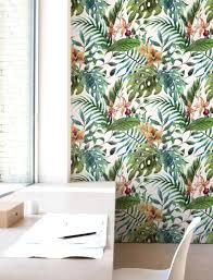 Floral Wall Decor Jungle Blad Behang Verwisselbare Behang Self Adhesive Behang Wandbekleding Jungle Jw008
