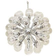 vintage 43 globe sputnik chandelier by lightolier for