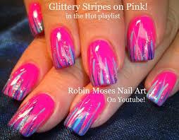 Easy Summer Nail Art Robin Moses Nail Art Easy Neon Pink Summer Nails Up And
