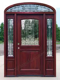 Mahogany Doors With Elliptical Transoms - Exterior transom window