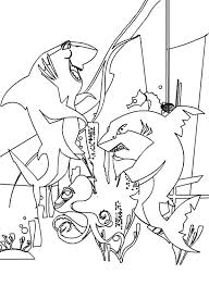 Small Picture Frankie and Don Lino Fight in Shark Tale Coloring Pages Batch
