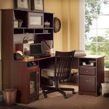 l shape furniture. Bush Furniture Cabot 60 In. L-Shaped Desk With Hutch - Harvest Cherry | Hayneedle L Shape