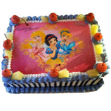 Barbie Doll Cartoon Photo Cake C006 Cakeatdoorcom