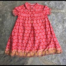 Oilily Red Pink Patterned Dress