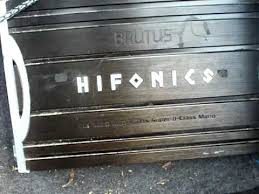 honda install premier hifonics brutus d amp rms honda install 2 12 premier hifonics brutus 1610d amp 1600 rms watt mono