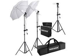 neewer 600w 5500k photo studio day light umbrella continuous lighting kit for portrait