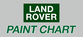 Land Rover Discovery 4 Colour Chart Land Rover Paint Chart