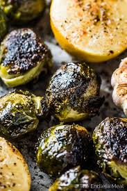 whole roasted brussels sprouts with