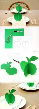 how to make 3d paper apple ornament step by step diy tutorial instructions