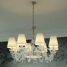 Intrecci 13008 Kronleuchter Aus Glas Stoff Lampenschirme
